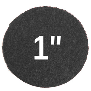 one inch sticky felt circles, white