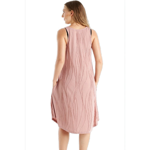 stitched tank dress, soft pink