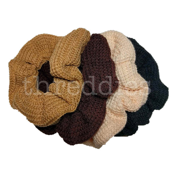 Neutral Sweater Knit Scrunchie Set