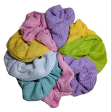 thermal scrunchies, pastel colors
