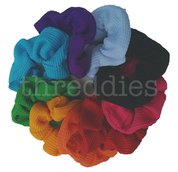 rainbow scrunchies - thermal