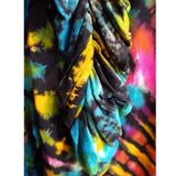 tie dye ruched leggings, detail