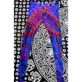 tie dye ruched leggings, purple