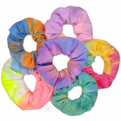 tie dyed scrunchies