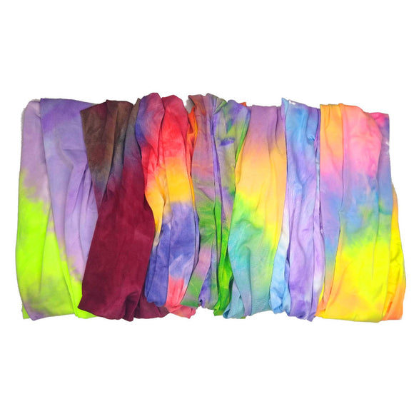 tie dye tube headbands and neck gaiters
