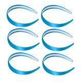 One inch wide, aqua, satin headband