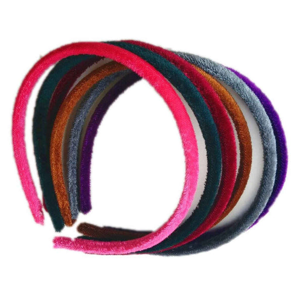 threddies skinny velvet headband set