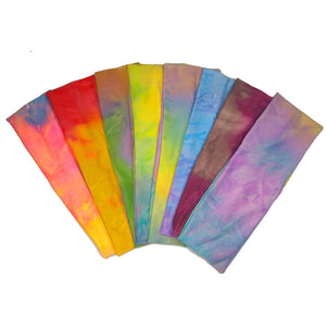watercolor tie dye headbands