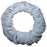 standard 2mm ponytail elastics, white hair elastics