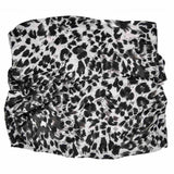 black and white leopard tube headband