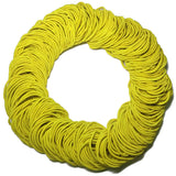 standard 2mm ponytail elastics, yellow hair elastics
