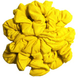 yellow cotton scrunchies