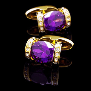 Purple & Gold Cufflinks