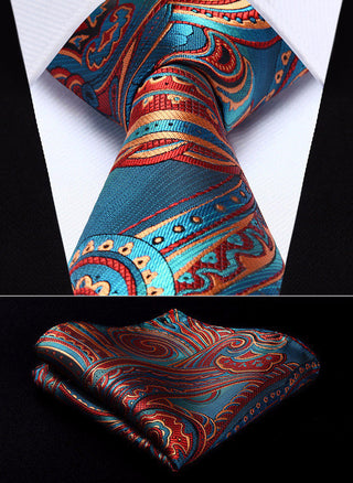 Larry Hughes Necktie With Handkerchief