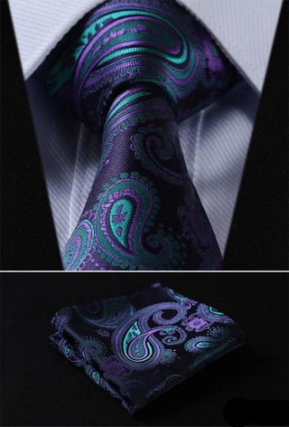 Aaron White Necktie With Handkerchief