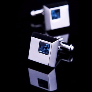 Ben Joris Blue Crystal Cufflinks
