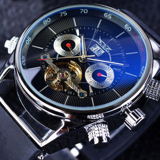 Jeff Flores Mechanical Stainless Steel Watch