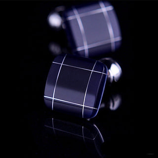 Colin Marius Blue Square Cufflinks
