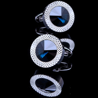 Jan Erik Crystal Blue Cufflinks