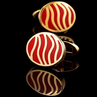 Marc Jona Red & Gold Cufflinks
