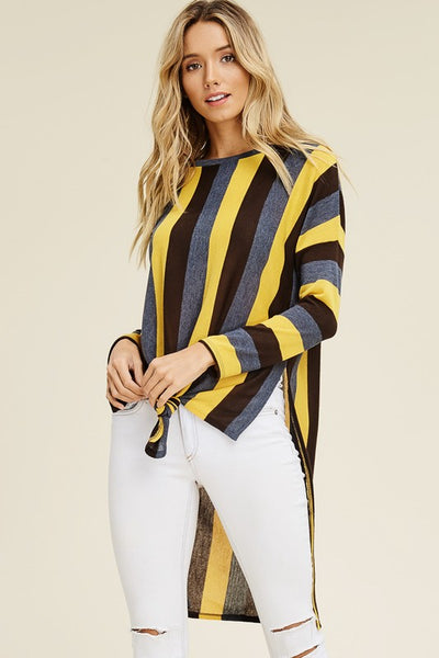 Long Sleeve Stripe Sweater - Zipora's Closet Boutique