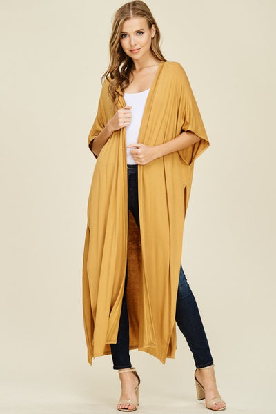 SOLID KNIT LONG CARDIGAN - Zipora's Closet Boutique