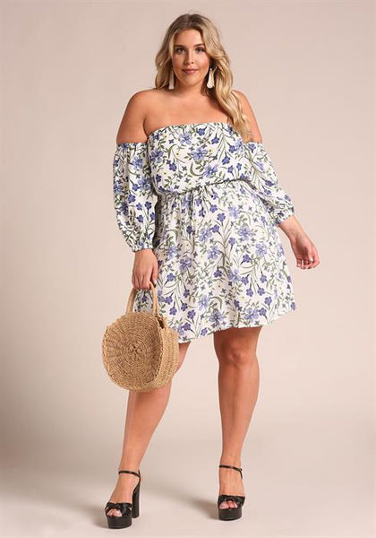 Day Dress with Floral Print - Zipora's Closet Boutique