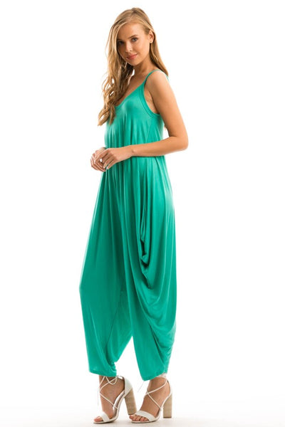 Full Length Sleeveless Harem Jumpsuit - Zipora's Closet Boutique