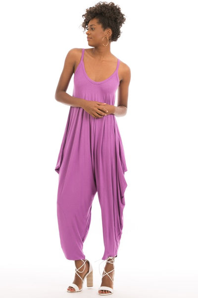 Full Length Sleeveless Harem Jumpsuit