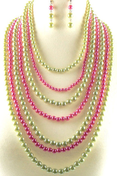 Multi Layered Pearl Necklace Set - Zipora's Closet Boutique