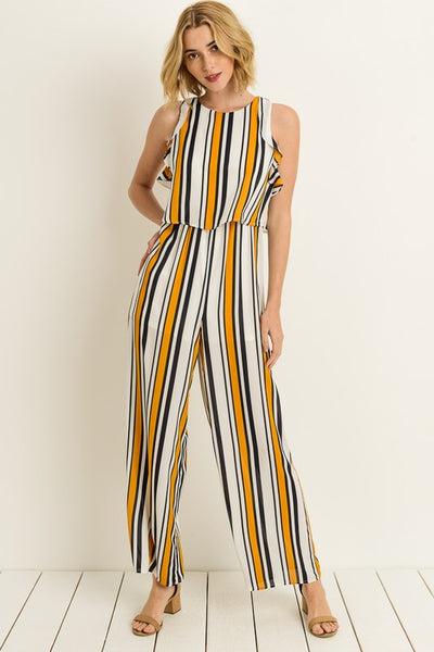 Sleeveless Wide Leg Jumpsuit - Zipora's Closet Boutique