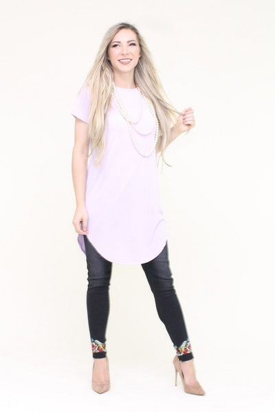 Short Sleeve Solid Tee - Zipora's Closet Boutique