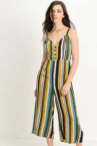 Capri Length Striped Jumpsuit - Zipora's Closet Boutique