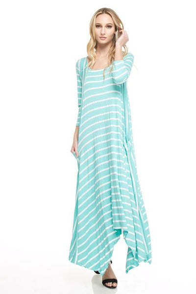 Jersey 3/4 Maxi Dress - Zipora's Closet Boutique