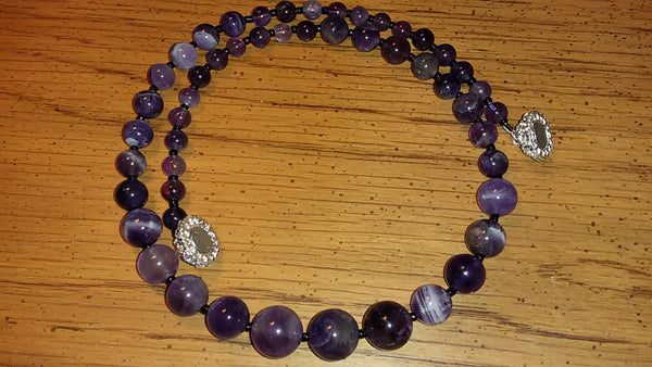 Graduating Amethyst Necklace & Earrings Set