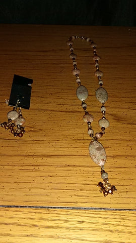 Out of the Woods Necklace & Earrings Set