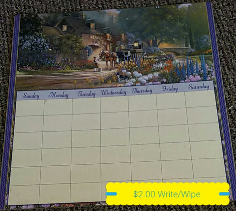 Write and Wipe Calendar with Magnetic Back