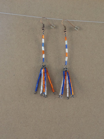 Large Fireworks Dangle Earrings