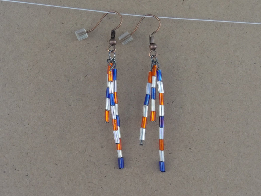 Medium Red White & Blue Firecracker Earrings