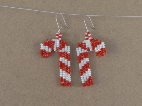 Candy Cane Earrings Pattern