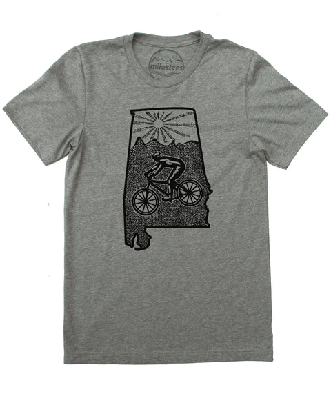 Alabama Home Shirt | Mountain Bike Style | Hand Screen Print on Soft 50/50 Tee's | Elevate the Day