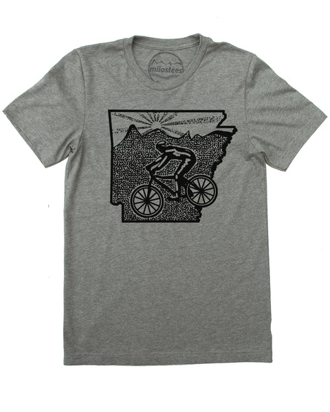 Arkansas Home Shirt with Mountain Bike Style | Screen Print on Soft 50/50 Tee's