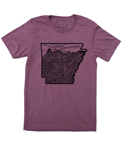 Arkansas Home Shirt | Wilderness Print | Soft 50/50 Tee's | Elevate the Day!