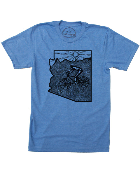 Arizona shirt- Mountain bike Sedona in a soft 50/50 tee made for Adventure and Casual Wear!