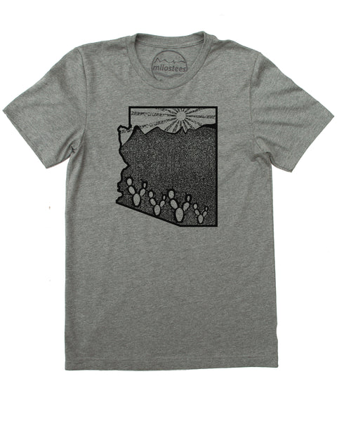 Arizona Home Shirt | Original Mountain & Sun Graphic | Hand Print on Soft 50/50 Tees | Elevate the Day!