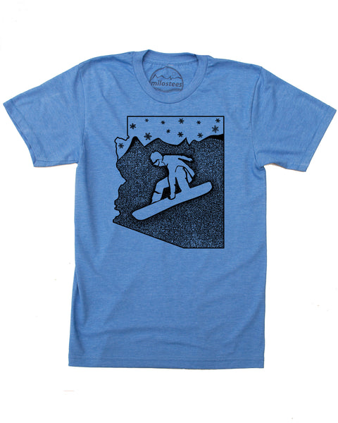 Arizona Snowboard T-shirt, Screen Print on Soft 50/50 Threads- Elevate the day!