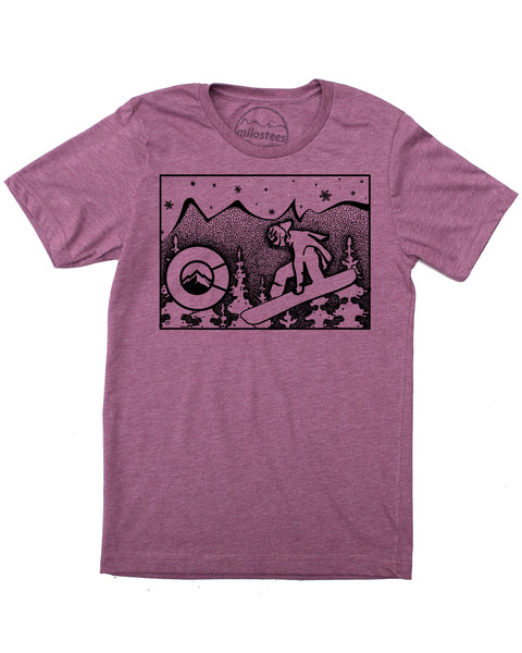 Colorado Snowboard T-shirt, Graphic Design on Soft Threads in a cotton/polyester blend- $21.99, Free Shipping In USA.