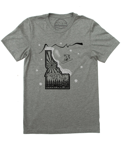 Snowboard Idaho T-shirt  Men's Wholesale