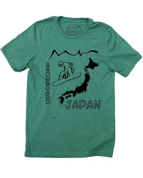 Japan T-shirt - Snowboard Hokkaido in a soft cotton, polyester tee and Elevate your day the Milostees way!