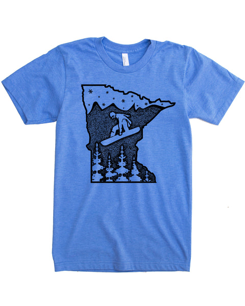 Minnesota Shirt, Snowboard the North Star State in a soft 50/50 tee that is sure to elevate your day!
